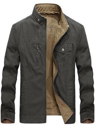 Reversible double sided wearable cotton men outdoor jacket Sale .