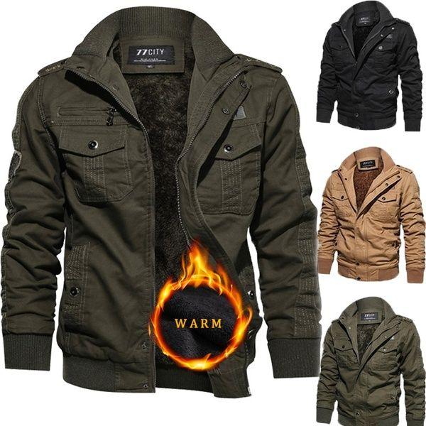 Outerwear Warm Jacket for Men Outdoor Plus Velvet Cashmere .
