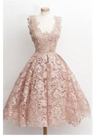 Lace Homecoming Dress, Short Homecoming Dress, Pink Homecoming .
