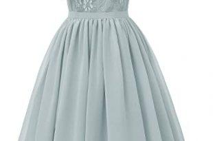 Amazon.com: LLBubble Women's Short Lace Women Dress Halter Junior .