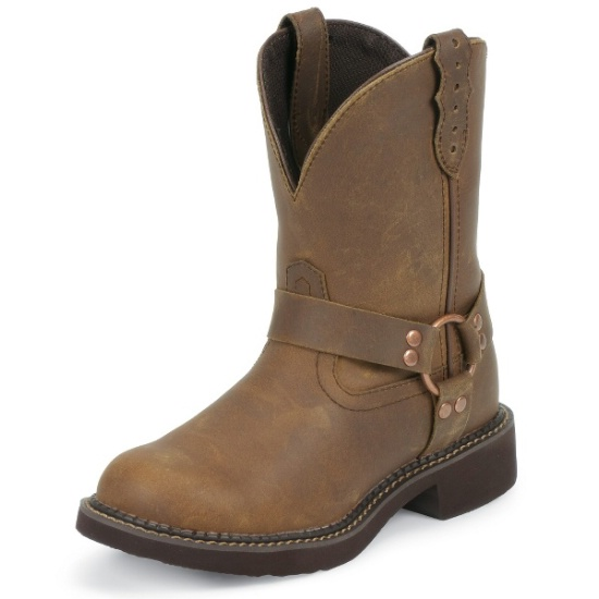 Justin L9992 Ladies Gypsy Boot with Bay Apache Cow Foot and a .