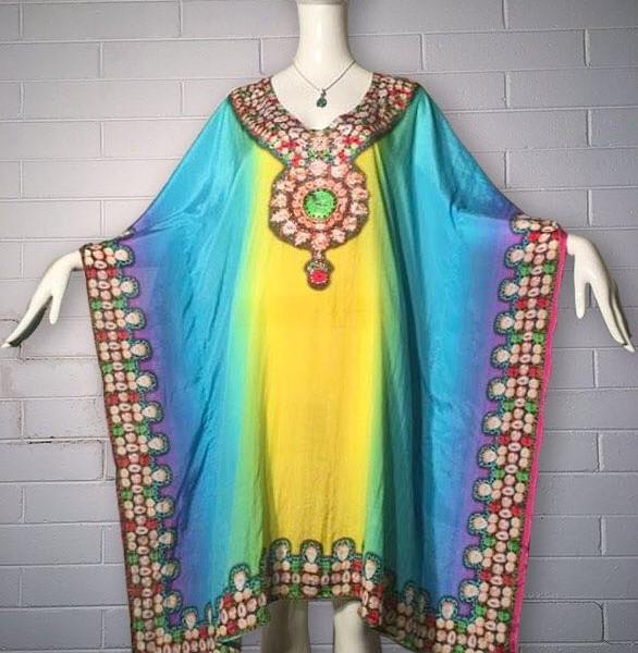 Buy Kaftan at $99, Buy Bejewelled Embellished Kaftans Dress online .