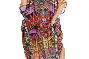 Amazon.com: Beach kaftan dress for woman beaded/beach wear/one .