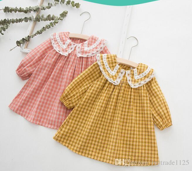 2019 Girl Kids Designer Clothes Dress Lolita Style Long Sleeve .