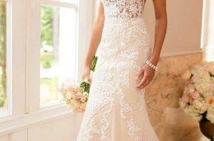 Lace Wedding Dress with Sheer Cutouts   Stella York Wedding Gow