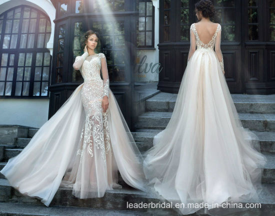 China Lace Bridal Gowns Mermaid Long Sleeves Wedding Dresses .