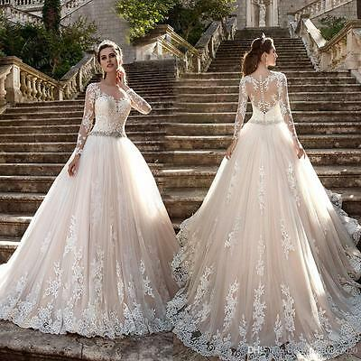 Plus Size Lace Wedding Dresses Long Sleeves Neckline Sexy Lace .