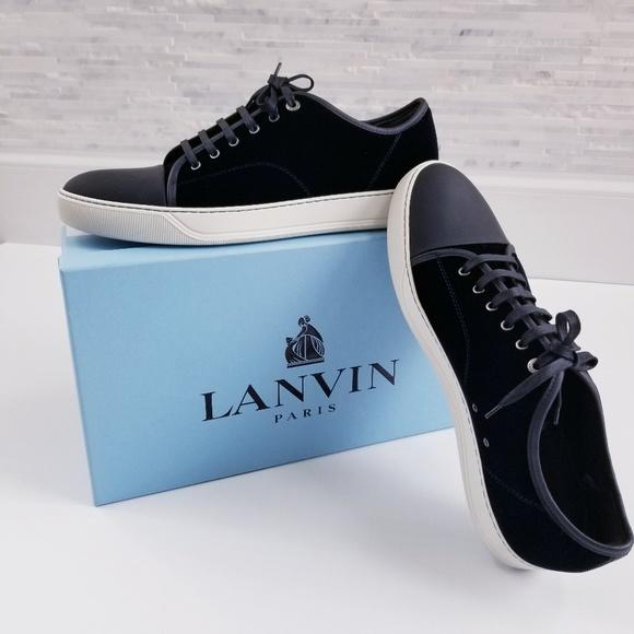 Lanvin Shoes | Paris Blue Velvet Sneaker | Poshma