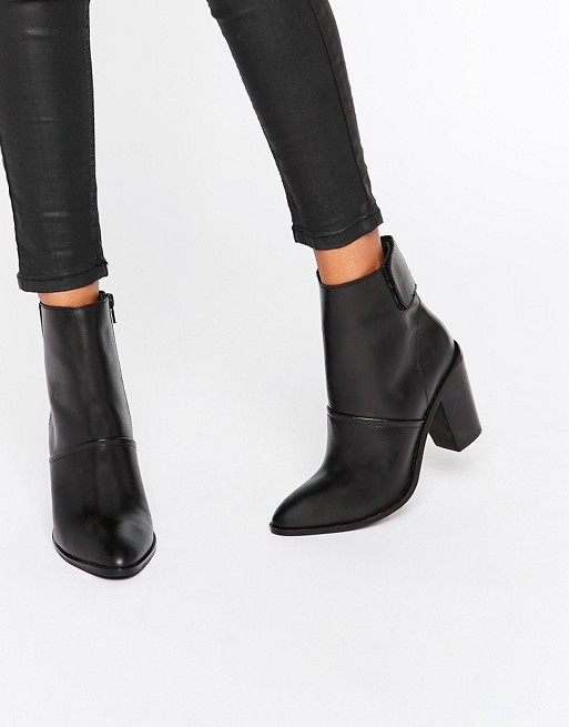 ASOS EFFIE Leather Ankle Boots | AS