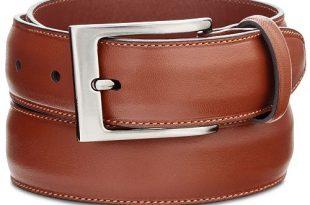 Perry Ellis Portfolio Men's Full-Grain Leather Belt & Reviews .
