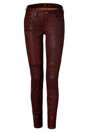 The Skinny washed brown leather pants   Leather pants women, Brown .