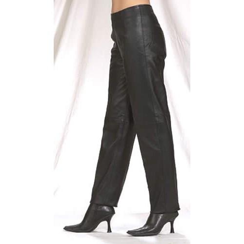 Women Hip-Hugger Straight Leg Leather Pants – Vector Biker We