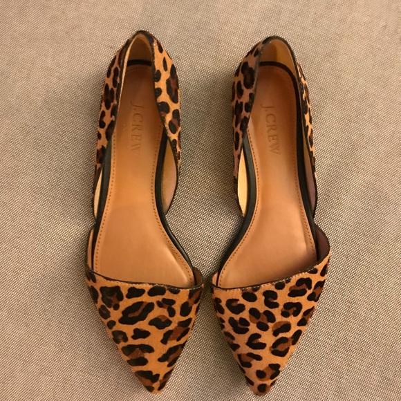 J. Crew Shoes   J Crew Factory Zoe Leopard Flats   Poshma