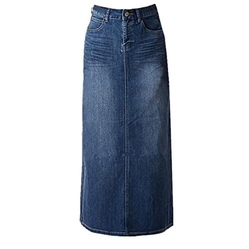 Long Denim Plus Size Skirts: Amazon.c