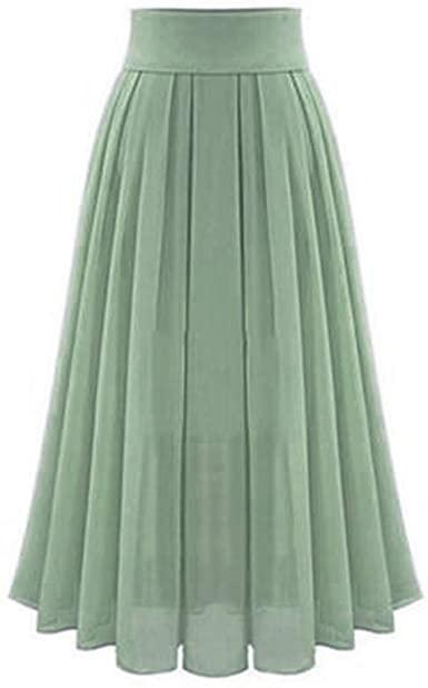 Amazon.com: High Waist Long Skirt, Women Vintage Loose Pleated A .