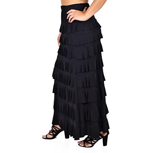Long Ruffle Skirt: Amazon.c