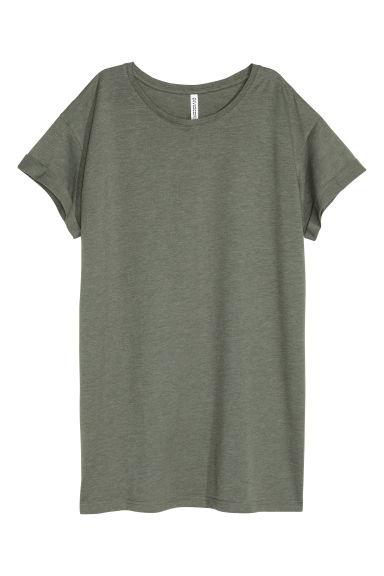 Long T-shirt - Khaki green - Ladies | H&M