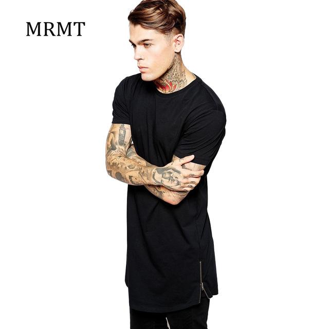 MRMT Mens long t shirt Streetwear Hip Hop Black t-shirt 2018 .