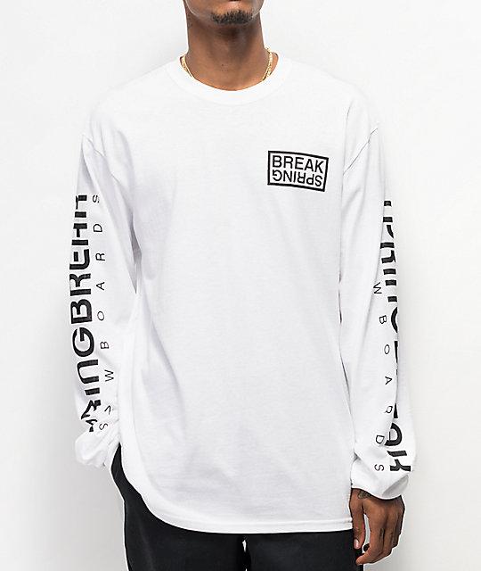 Capita Spring Break White Long Sleeve T-Shirt | Zumi
