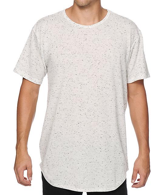 EPTM. Basic Elongated Oreo Drop Tail Long T-Shirt | Zumi