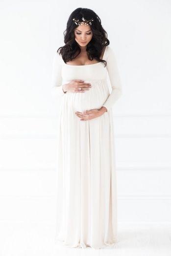 White Maternity Dress For Baby Shower   Maternity dresses for baby .