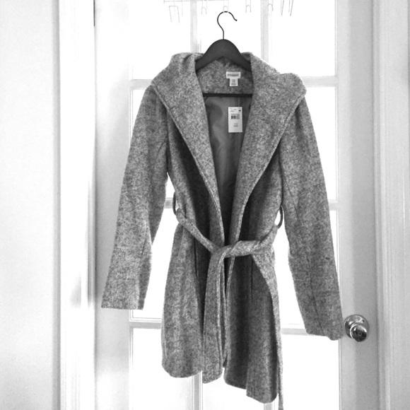 Motherhood Maternity Jackets & Coats   Nwt Hooded Boucle Maternity .