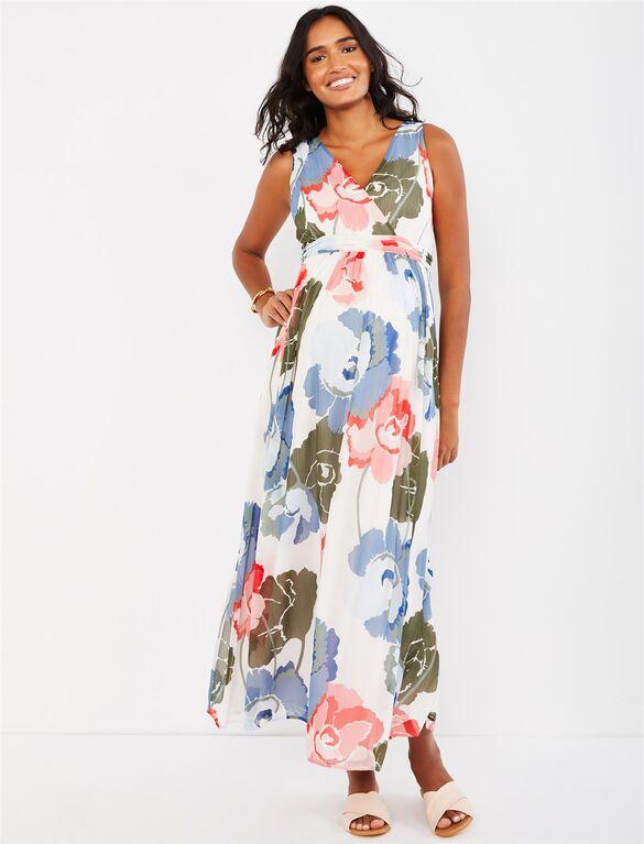 Floral Chiffon Maternity Maxi Dress | Motherhood Materni