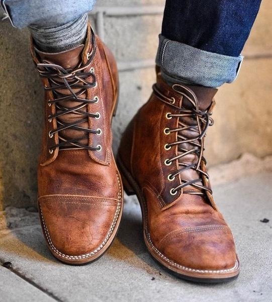 High Quality British Men Boots Autumn Winter Shoes Men Fashion .
