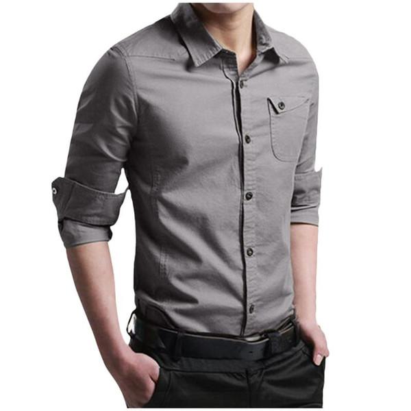 2020 Brand Men Shirt Male Dress Shirts Men'S Fashion Casual Long .