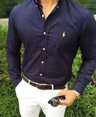 The dress shirt fit!   Menswear, Men casual, Stylish m