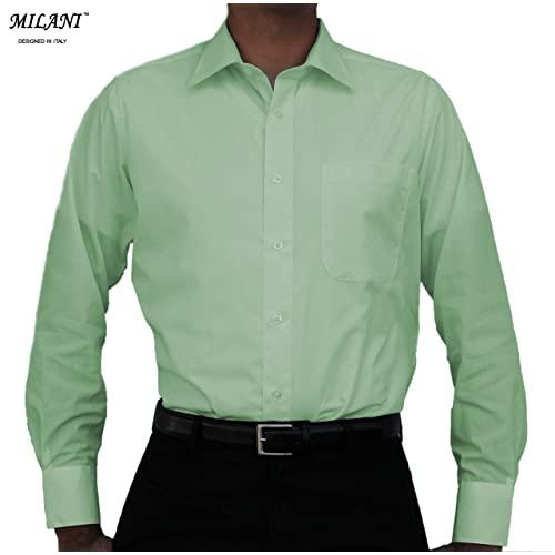Mens Light Green Dress Shirts: Amazon.c