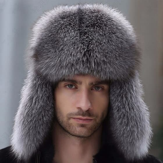 Shop Russian leather bomber leather hat men winter hats with .