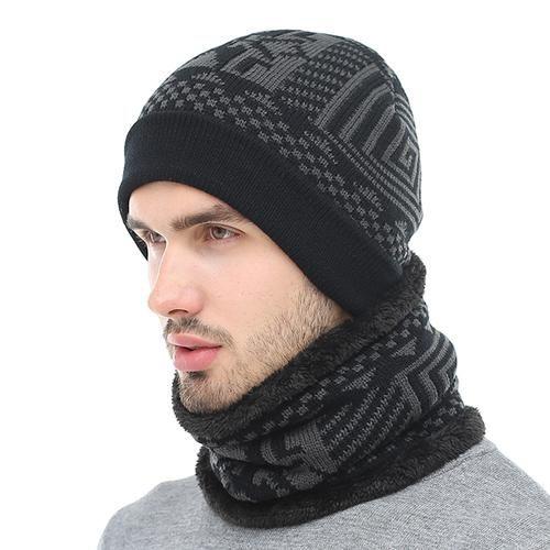 Skullies Beanies Winter Knitted Hat Beanie Scarf Men Winter Hats .
