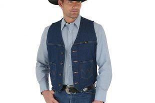 Wrangler® Unlined Denim Vest Prewashed   Mens Jackets and .