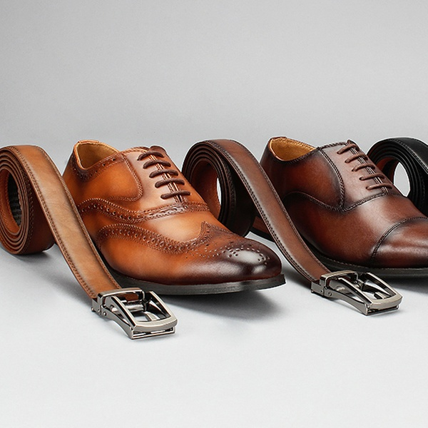 Up To 78% Off on Men's Dress Shoes and Free Belt   Groupon Goo