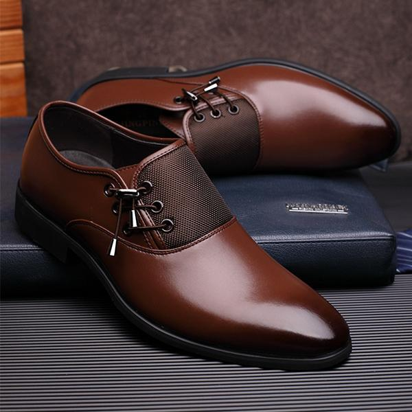 Shoes - Men's Business Genuine Leather Oxford Dress Shoes(Buy 2 .