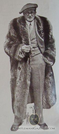 Fur coat 1920s | Mens fur coat, Raccoon fur co