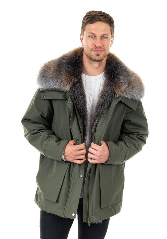 Men's Alpine Anorak Faux Fur Coat | Mens Faux Fur Coa