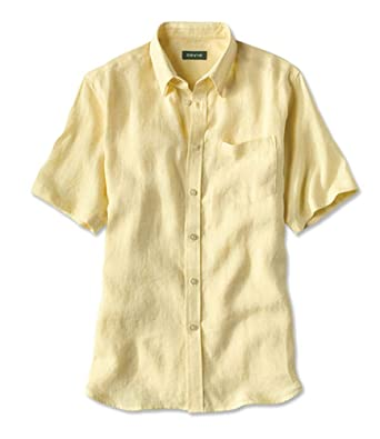 Orvis Short-Sleeved Pure Linen Shirts/Pure Linen Shirts at Amazon .