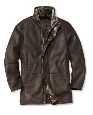 Shearling Leather Coat for Men - Orv
