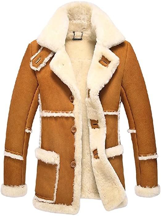 Cwmalls Men's Rancher Shearling Sheepskin Jacket CW878258 at .