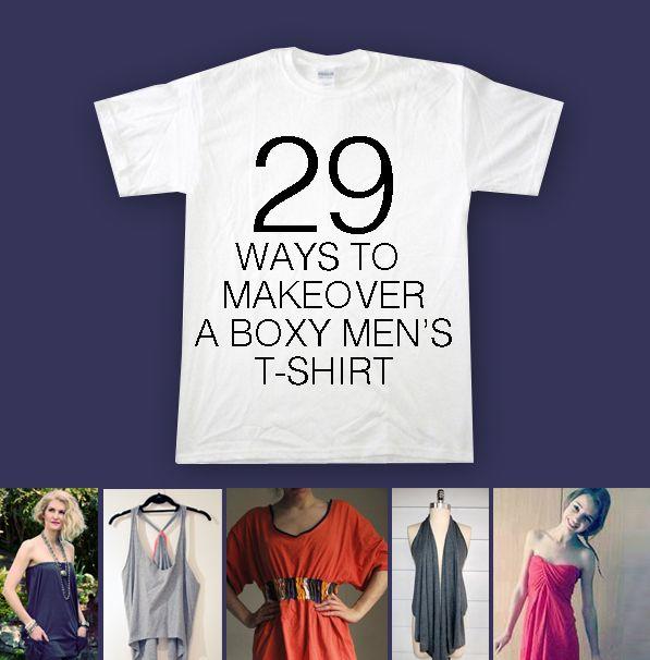 T Shirt Makeover - 29 ways to make over a Men's T Shirt   Shirt .