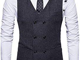 Amazon.com: Hemlock Men's Waistcoats Jacket, Men Busimess Suit .