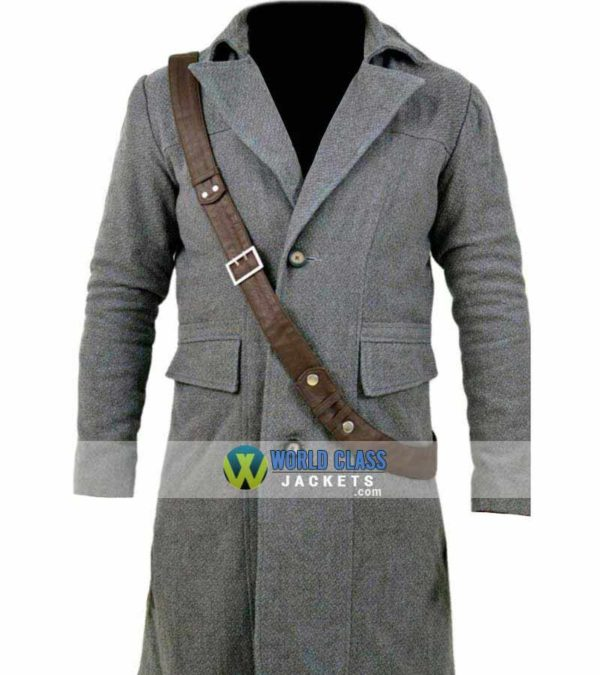 Mens Winter Coat in Grey Wool Peacoat at 43% Off Sale 20