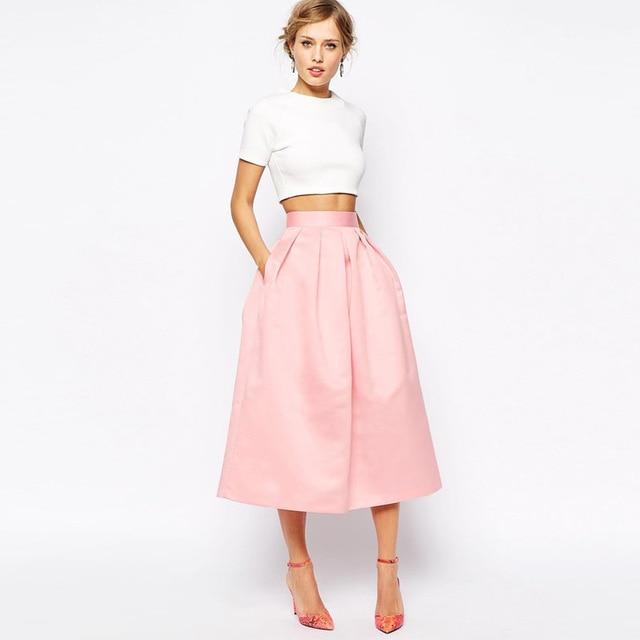Fashion High Waist Formal Women Skirts Customized Blush Pink Maxi .