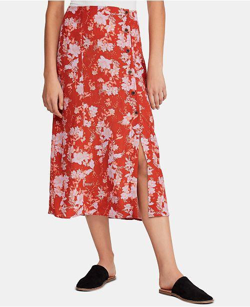 Free People Retro Love Midi Skirt & Reviews - Skirts - Juniors - Macy