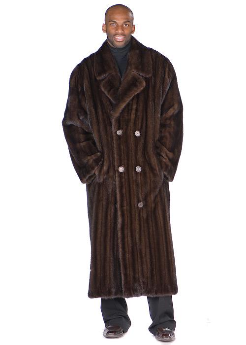 Mens Mahogany Mink Coat – Double Breasted Coat | Madison Avenue .