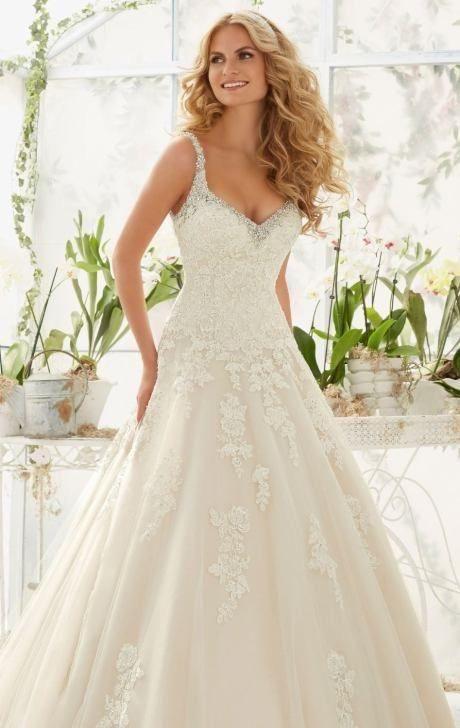 Mori Lee '2811' size 12 used wedding dress - Nearly Newlywed .