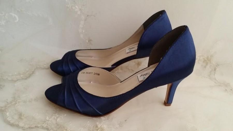Wedding Shoes Bridal Shoes Blue Wedding Shoes Navy Wedding Shoes .