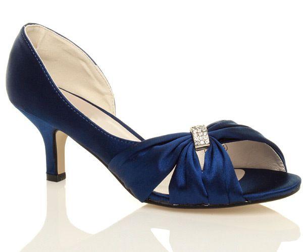 low heel navy blue wedding shoes   Navy wedding shoes, Wedding .